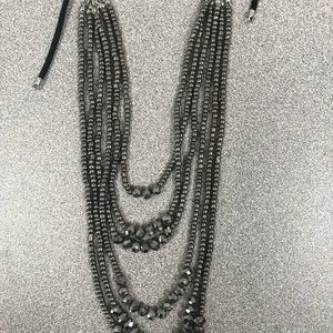 Lane Bryant Black and Silver Necklace